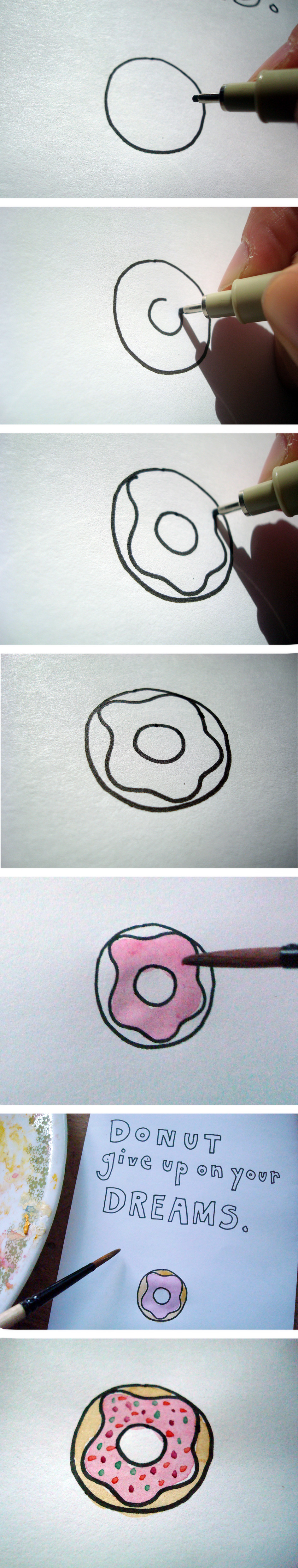 donut drawing tutorial