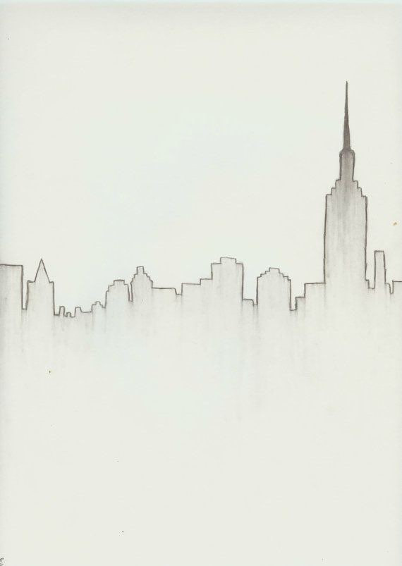 draw the new york skyline