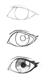 learn how draw manga eyes