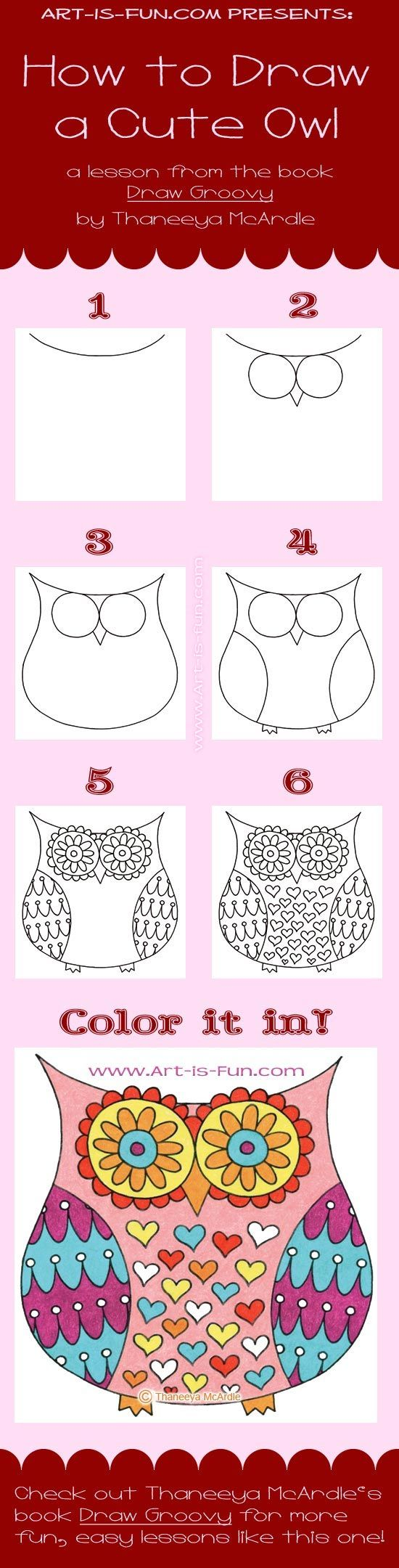 learn how to draw a petite owl