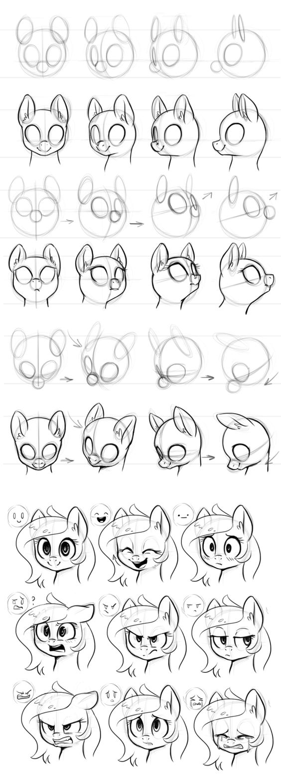 learn how to draw a poney