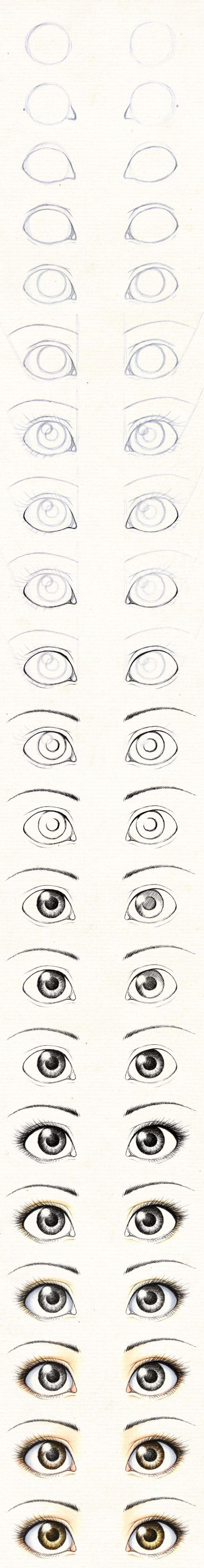 learn how to draw a set of eyes