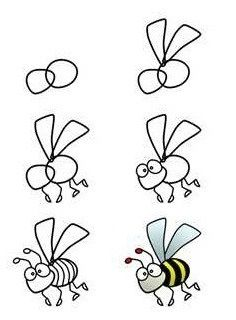 learn how to draw bees