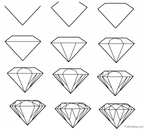learn how to draw gemstone patterns