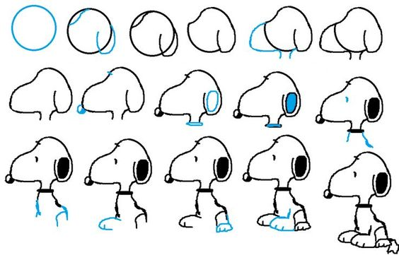 learn how to draw snoopy