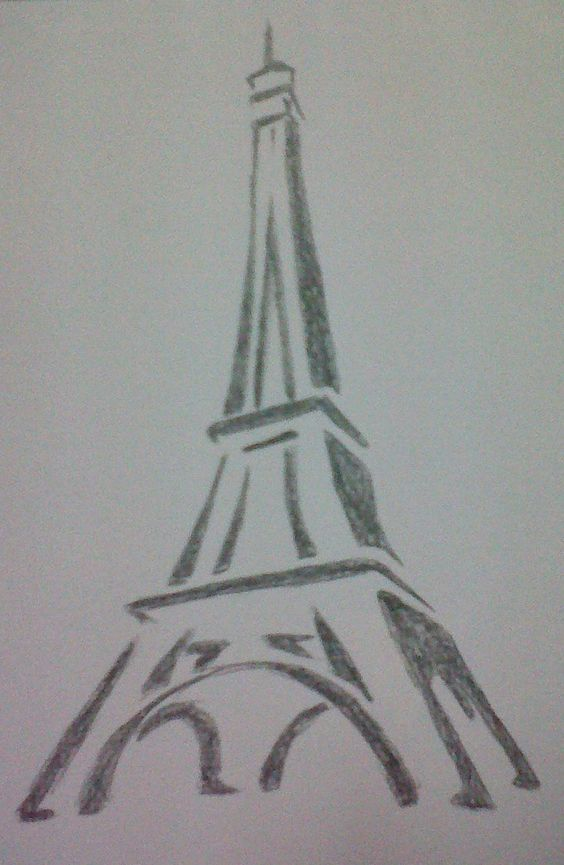 learn how to draw the eiffel tower